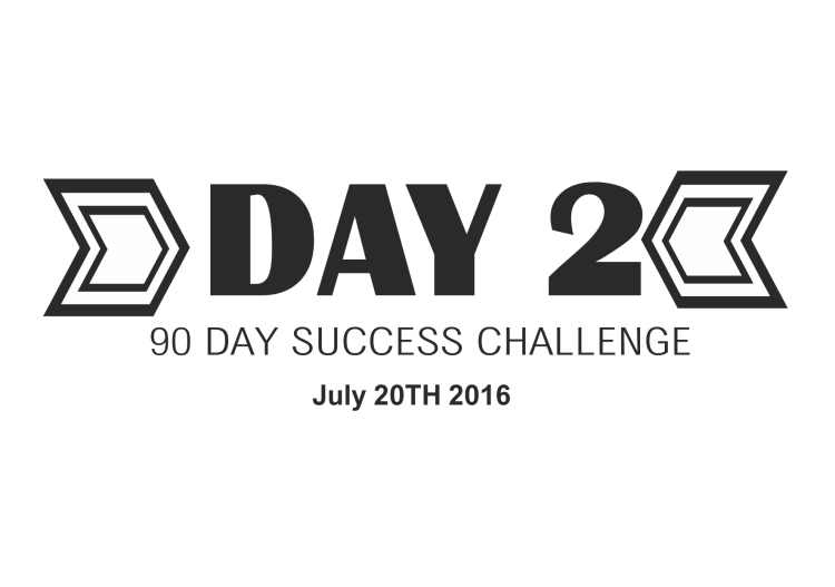 90 day success challenge day 2