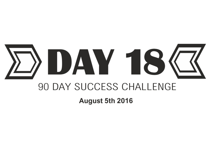 90 day success challenge day 18