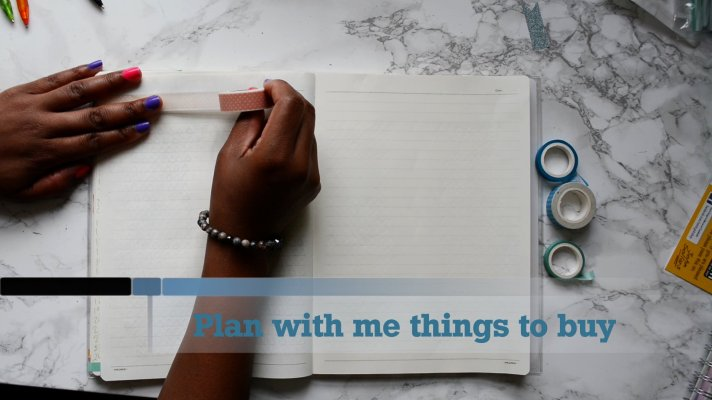 Plan with me things to buy