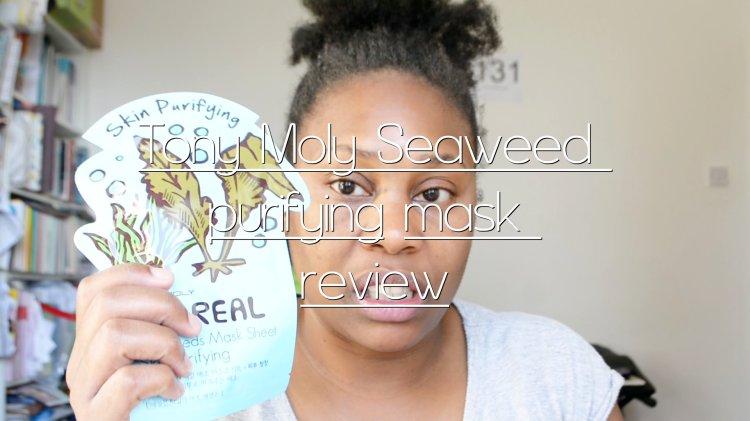 Tony Moly seaweed mask review